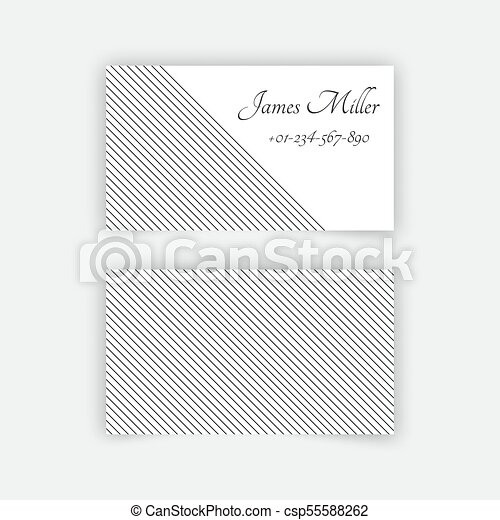 Business Card Blank Template With Textured Background From Thin