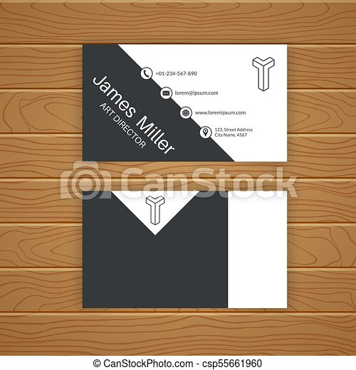Business card blank template with textured background minimal business card blank template csp55661960 accmission Choice Image