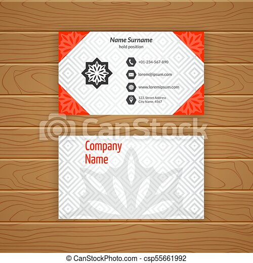 Business Card Blank Template With Textured Background From Diamond