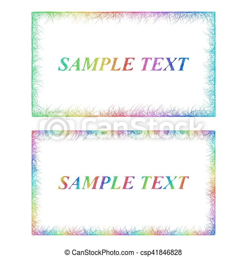 Business card border templates in rainbow colors sketch vector business card border templates in rainbow colors csp41846828 fbccfo Images