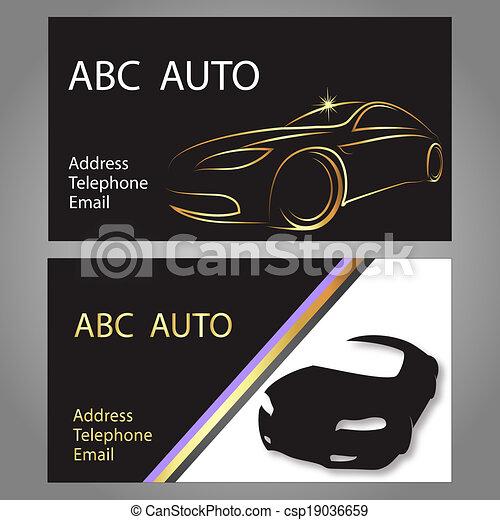 Business card car design business card for auto vector business card car csp19036659 colourmoves