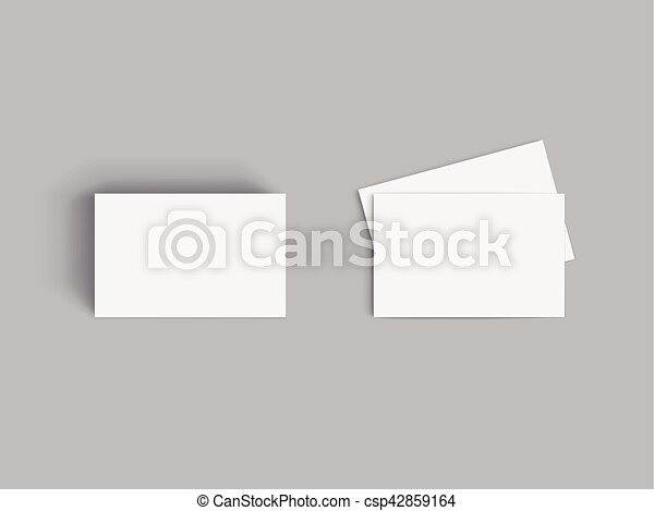 Stack of blank business card on grey background clip art vector business card csp42859164 reheart Images