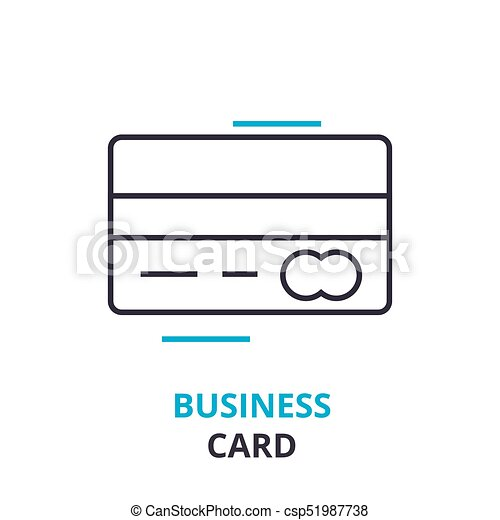 Business card concept outline icon linear sign thin line business card concept outline icon linear sign thin line pictogram logo colourmoves