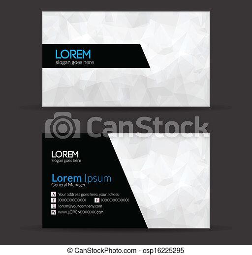 Business Card Design  - csp16225295