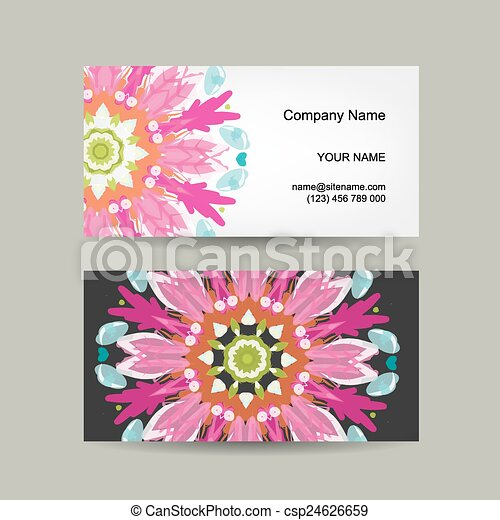 Business Card Design Ornate Background