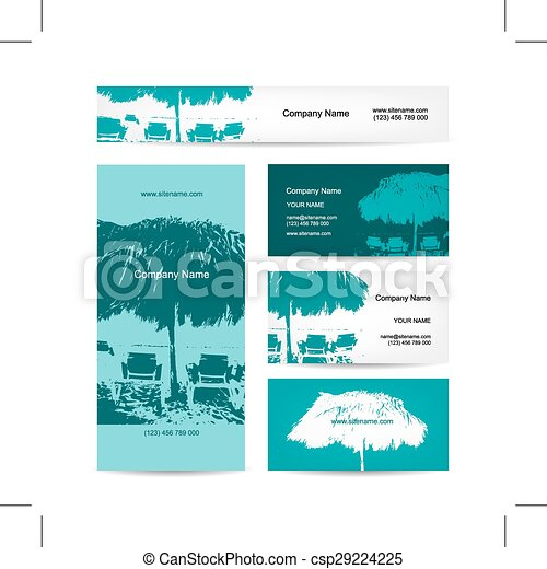 business card design tropical resort csp29224225