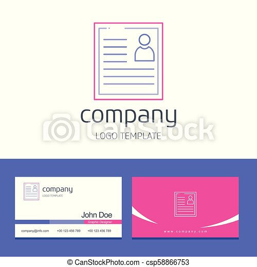 Business card design with company logo vector - csp58866753