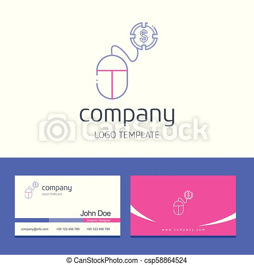 Business card design with company logo vector - csp58864524