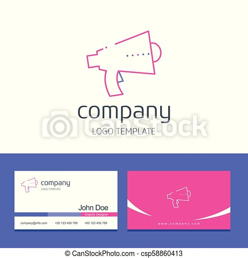 Business card design with company logo vector - csp58860413