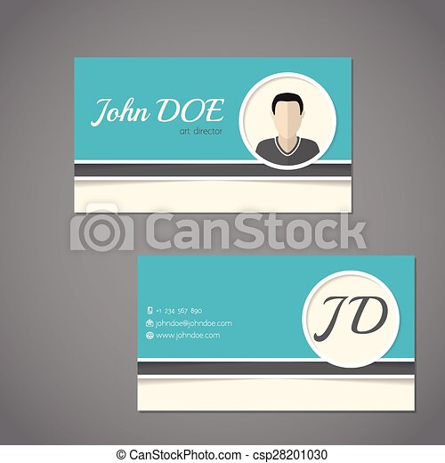 Business card design with front and back side business card set business card design with front and back side csp28201030 colourmoves