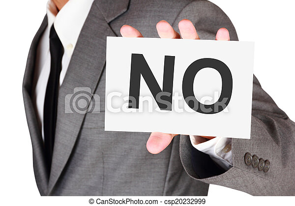 Business card expression say no word - csp20232999