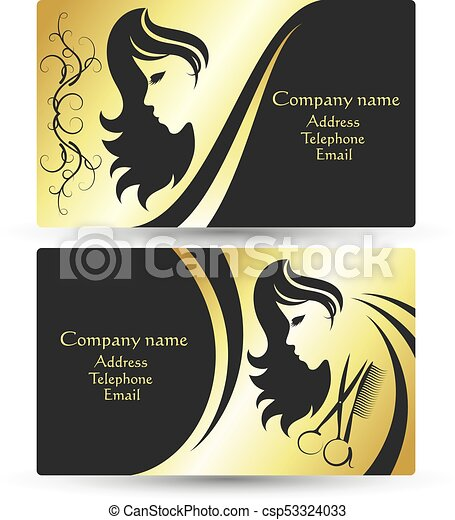 Business card for beauty salon and hairdresser concept vectors business card for beauty salon csp53324033 colourmoves
