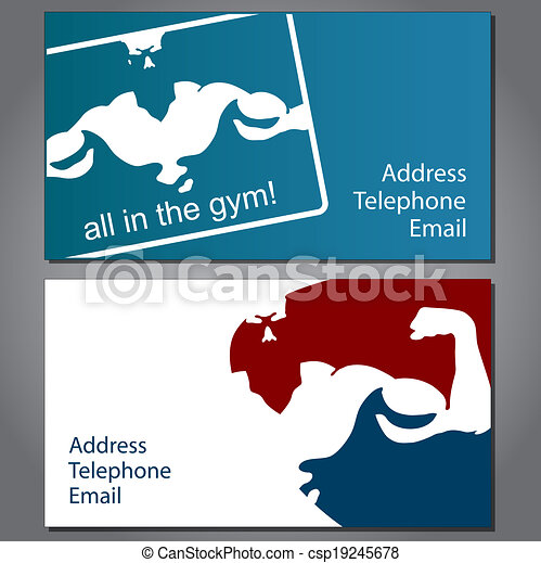 Business card for gym and fitness vector vectors illustration business card for gym vector reheart Gallery
