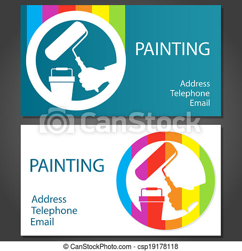 business card for painting csp19178118 - Painting Business Cards