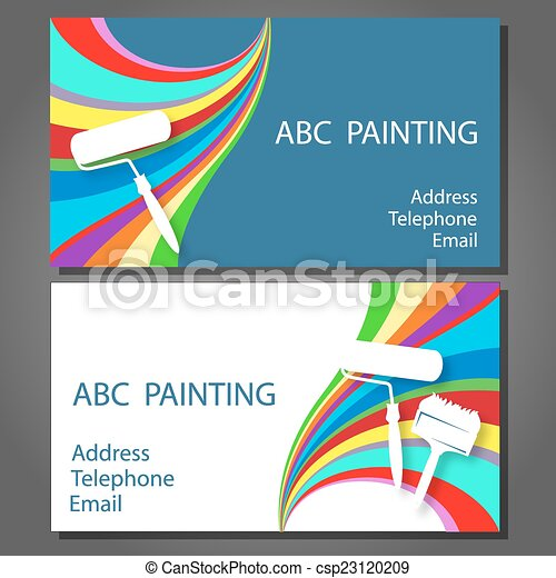 Business card for painting design business cards for vector clip business card for painting colourmoves