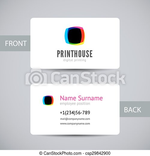 Business card for print house with cmyk ink splashes business card business card for print house with cmyk ink splashes csp29842900 reheart Choice Image
