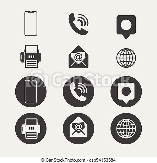 Business card icon set web icons reheart Images