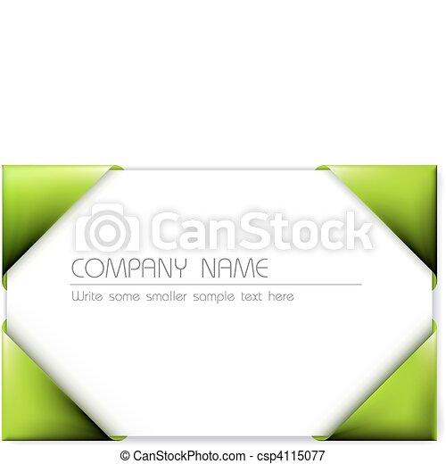 Business card in the green card holder vector reheart Gallery