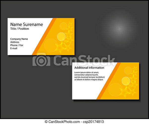 Business card layout - csp20174813