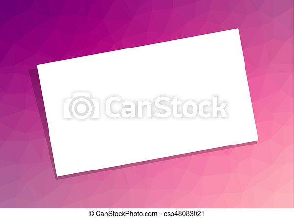 Business card or visiting card template on pink purple abstract business card or visiting card template on pink purple abstract polygonal background csp48083021 maxwellsz