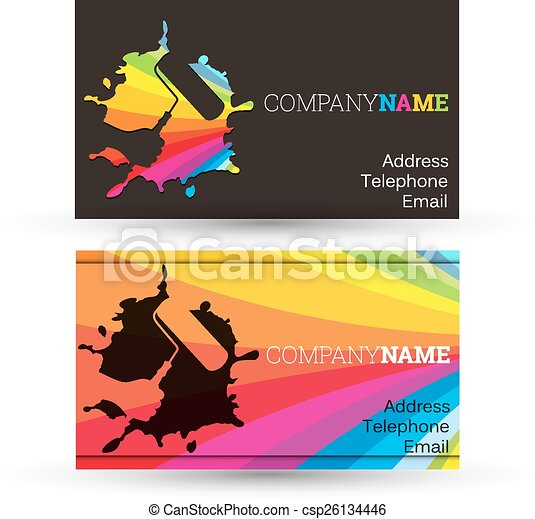 Business card painting business card for painting business eps business card painting csp26134446 colourmoves