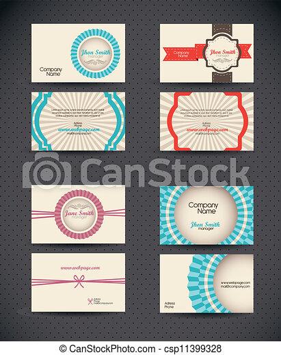 Business Card retro  - csp11399328