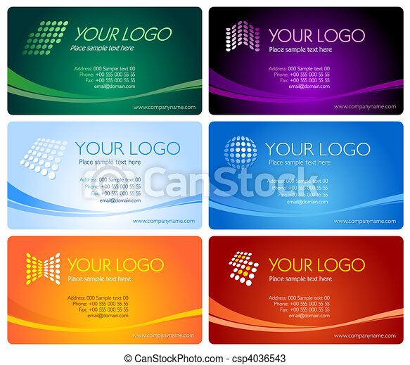 Business card set - csp4036543