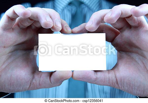 business card - csp12356041