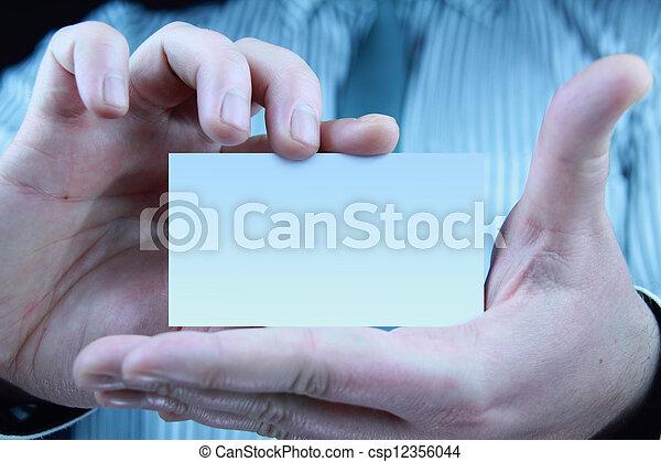 business card - csp12356044