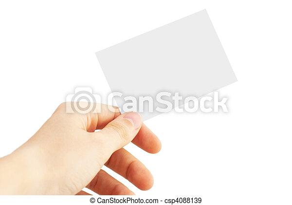 business card - csp4088139