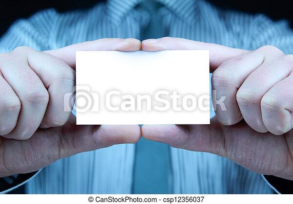 business card - csp12356037