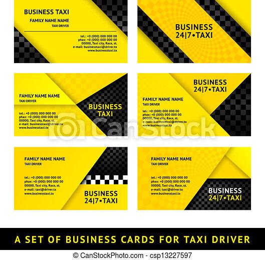 Business card taxi - ninth set - csp13227597