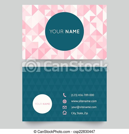 Business card template abstract crystal pink triangle background business card template abstract crystal pink triangle background vector illustration for modern cute romantic design polygonal texture with icons of fbccfo Gallery