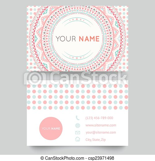 Business card template blue white and pink beauty fashion pattern business card template blue white and pink beauty fashion pattern vector design editable trible vector illustration for modern design beautiful ornate wajeb Gallery