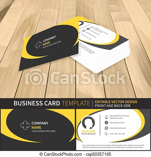 Business card template editable vector design with front clip business card template editable vector design with front and back side reheart Choice Image