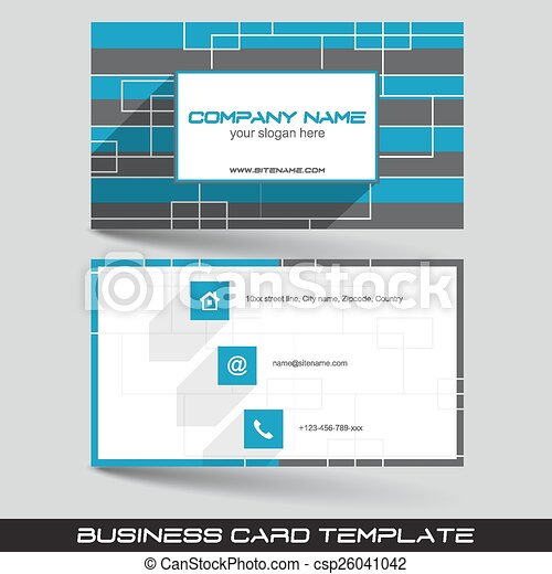 Business card template with front and back side design for eps business card template csp26041042 cheaphphosting Image collections