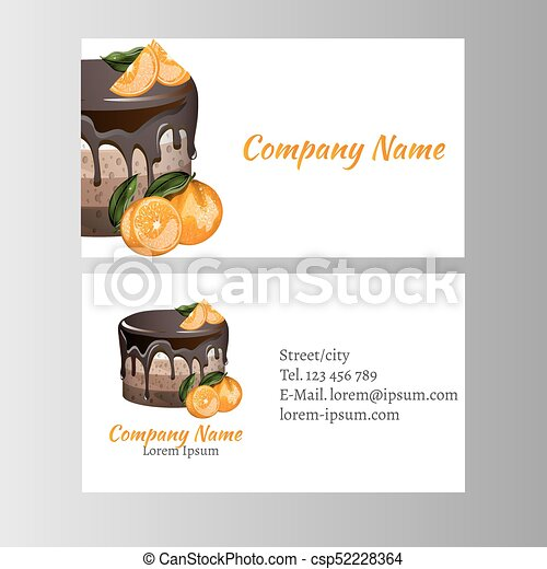 Business card template for bakery business vector illustration reheart Gallery