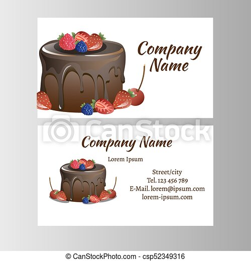 Business card template for bakery business vector illustration reheart Choice Image