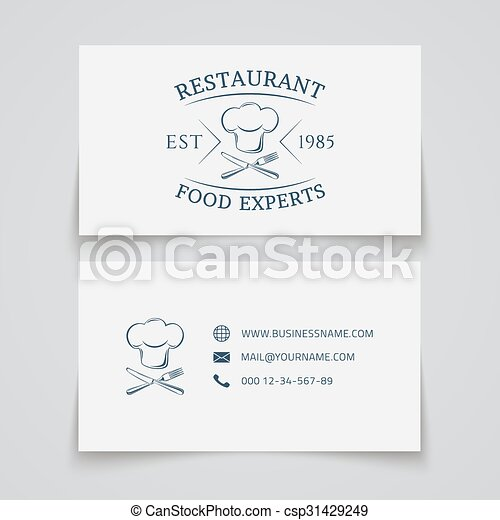 Business card template for restaurant business card template with vector business card template for restaurant csp31429249 reheart Choice Image