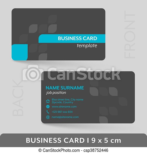 Business card template for your corporate or personal eps vector business card template for your corporate or personal presentation csp38752446 wajeb Gallery