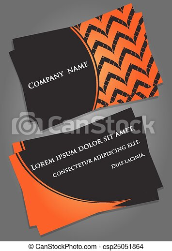 Business card template in black and orange business card clip business card template in black and orange csp25051864 cheaphphosting Choice Image