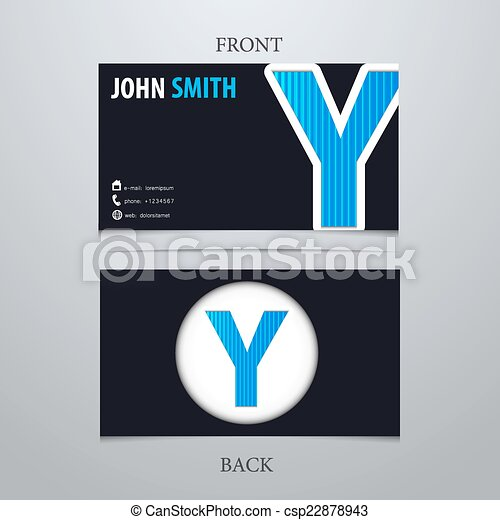 Business card template letter y eps vector search clip art business card template letter y csp22878943 accmission Gallery