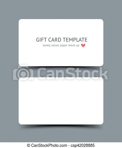 Business Card Template Mock Up With Round Corners And Shadow Isolated On Dark Background Realestic Vector Paper Cards For Canstock