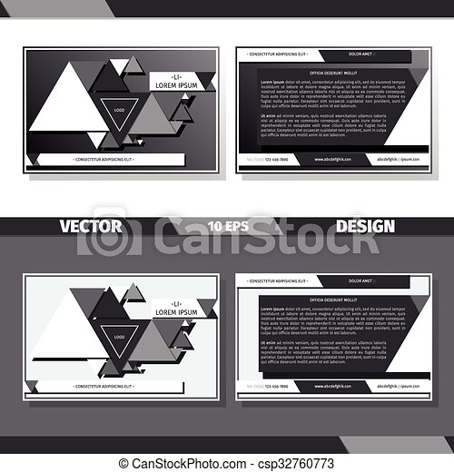 Business card template on black and white background vector business card template on black and white background csp32760773 colourmoves