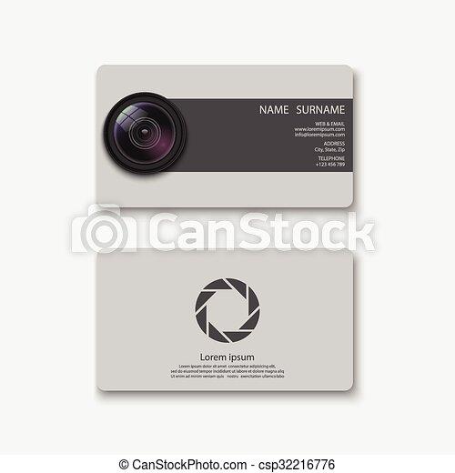 Business card templatephotographyvector business card templatephotography reheart Image collections