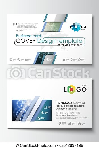 Business card templates cover design template easy editable blank business card templates cover design template easy editable blank abstract flat layout dna molecule structure science background scientific research fbccfo Choice Image