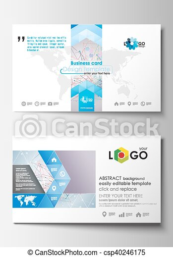 Business card templates cover design template easy editable blank business card templates cover design template easy editable blank abstract flat layout molecule wajeb Image collections