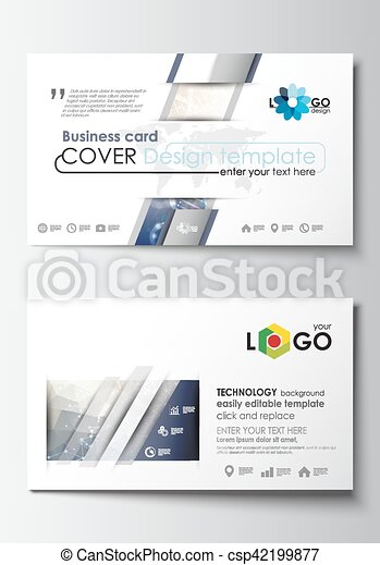 Business card templates cover design template easy editable blank business card templates cover design template easy editable blank abstract flat layout dna molecule structure on blue background scientific research fbccfo Choice Image