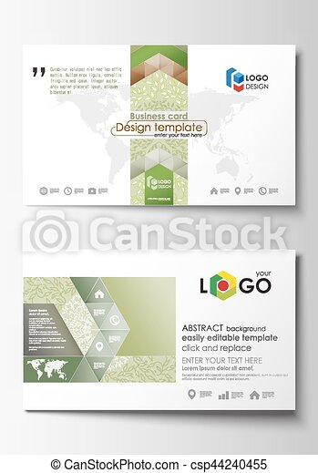 Business card templates easy editable layout abstract flat business card templates easy editable layout abstract flat design vector template green color reheart Choice Image