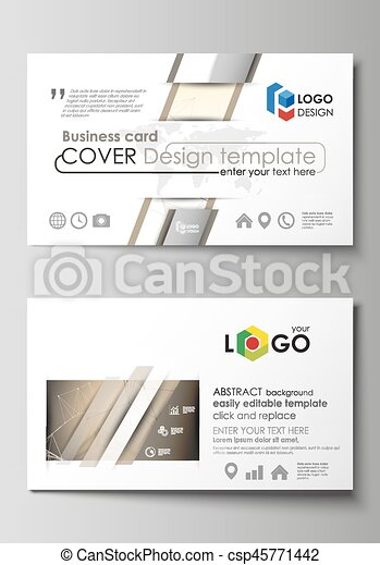 Business Card Templates Easy Editable Layout Abstract Vector Design Template Technology Science